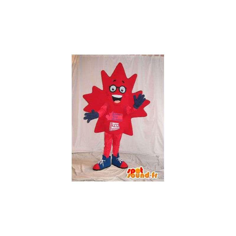 Maple leaf mascot costume Canadian - MASFR001645 - Mascots of plants