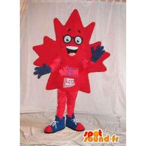 Mascotte de feuille d'érable, déguisement canadien - MASFR001645 - Mascottes de plantes