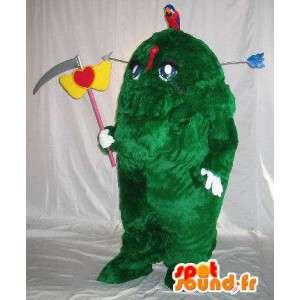 Pelottava hedge maskotti puku hirviömäisen puu