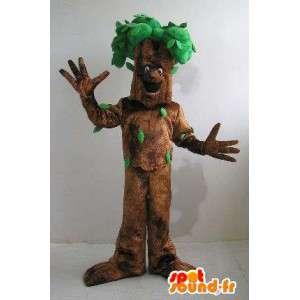 Boom mascotte kostuum bos