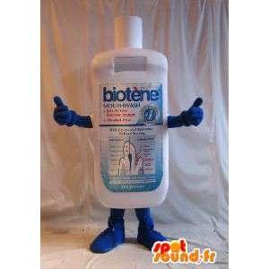 Mascot botella de enjuague bucal, disfraz higiene