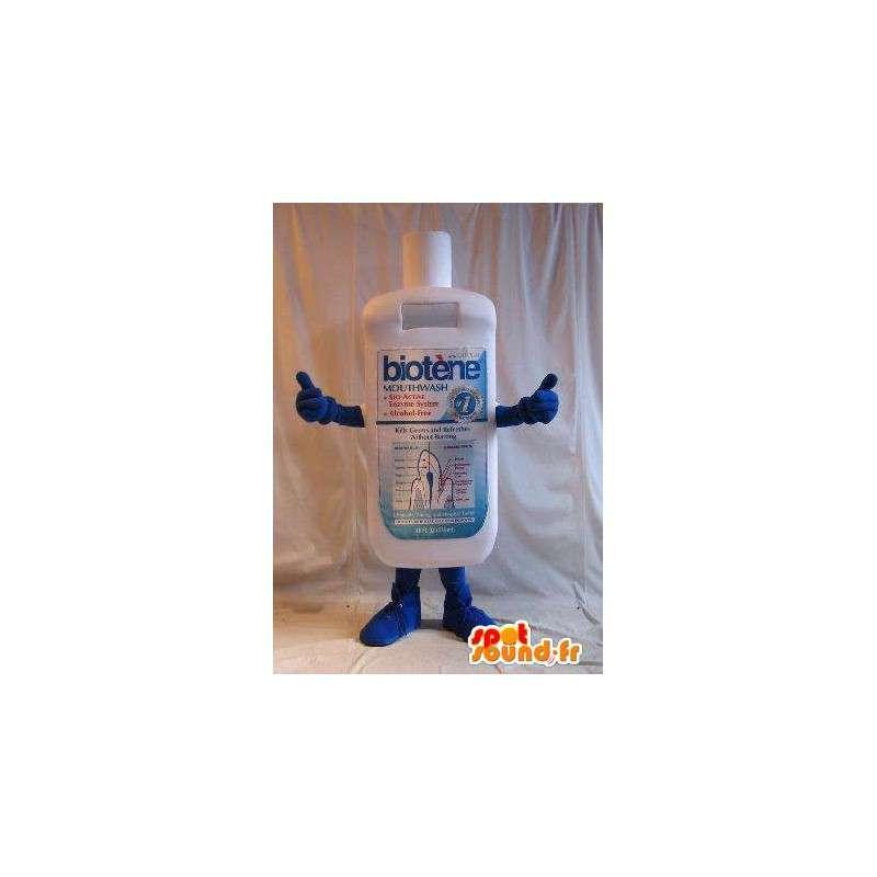 Fles mascotte mondwater, hygiëne vermomming - MASFR001648 - mascottes Flessen