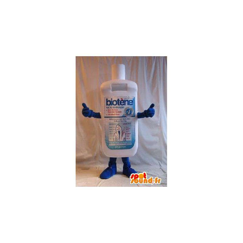 Mascot botella de enjuague bucal, disfraz higiene - MASFR001648 - Botellas de mascotas