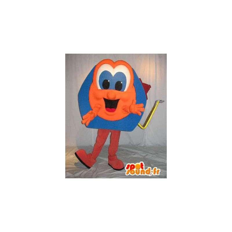 Meter-vormige mascotte oranje en blauw, doe-het-vermomming - MASFR001649 - mascottes objecten