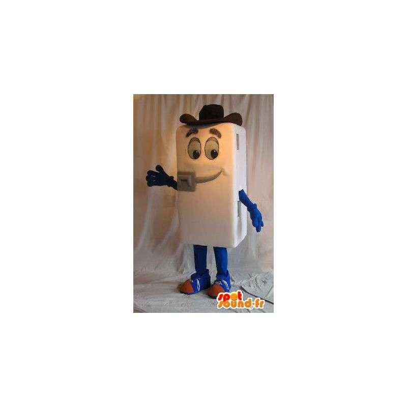 Mascot kjøleskap, cowboyhatt, kjøkken forkledning - MASFR001651 - Man Maskoter