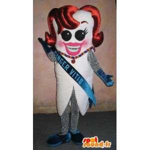 Miss Francia mascota del diente, Belleza concurso de disfraces - MASFR001652 - Oso mascota