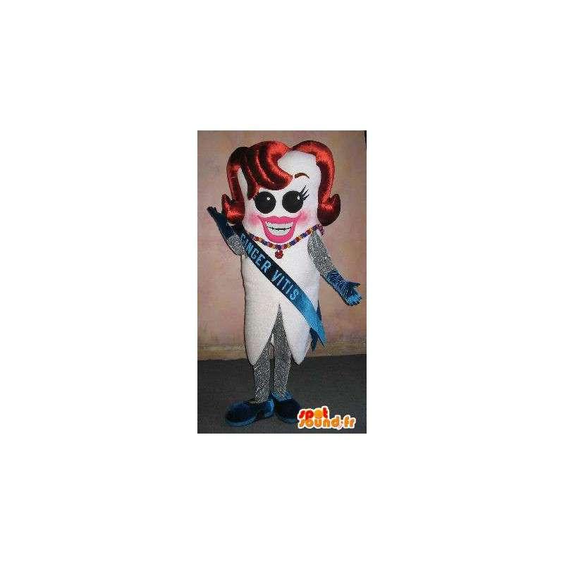 Miss France Zahn-Maskottchen-Kostüm-Wettbewerb Schönheit - MASFR001652 - Bär Maskottchen