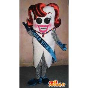 Maskotka ząb Miss France konkurs piękności przebranie - MASFR001652 - Maskotka miś