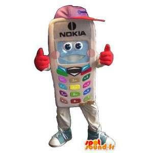 Mascotte de téléphone Nokia, déguisement téléphonie