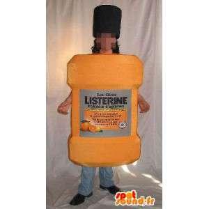 Mascotte bottiglia di gel doccia, travestimento cosmetici
