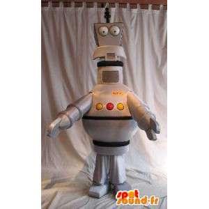 Mascotte de robot antenne, déguisement robotique