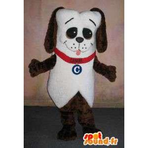 Puppy mascotte met halsband, dierlijke vermomming