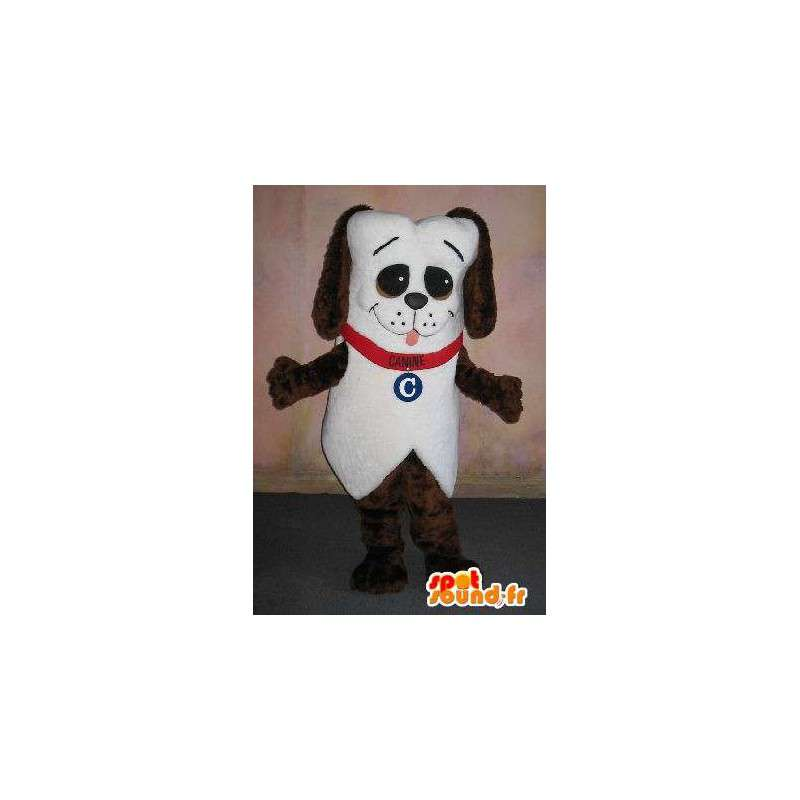 Štěně maskot s náhrdelník, zvířecí přestrojení - MASFR001663 - psí Maskoti
