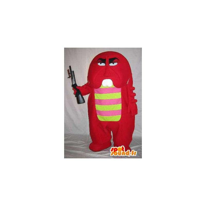 Mascot gewapend kleine rode monster, monster kostuum - MASFR001664 - mascottes monsters