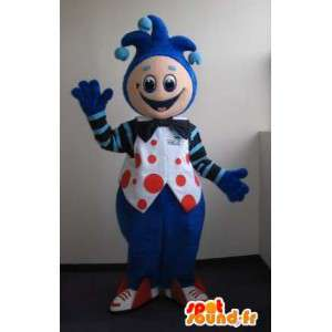 Koning mascotte clown, clown vermomming