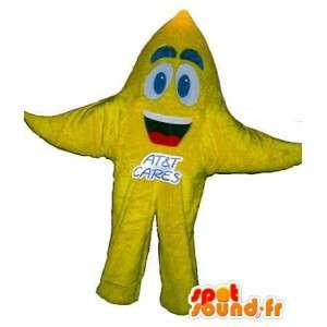 Mascotte Étoile de mer, déguisement d'étoile