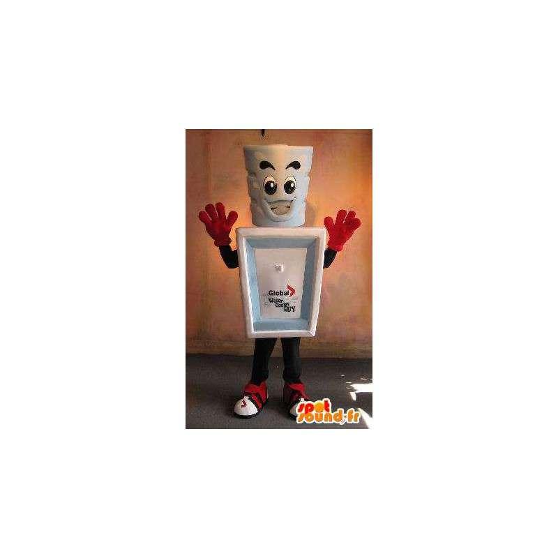 Mascotte verre avec son récipient, déguisement céramique - MASFR001667 - Mascottes d'objets