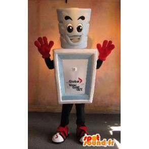 Glas mascotte met de verpakking, keramische vermomming - MASFR001667 - mascottes objecten