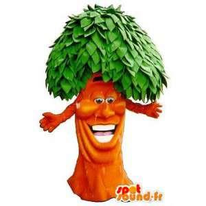 Mascot van een rasta boom pak bos