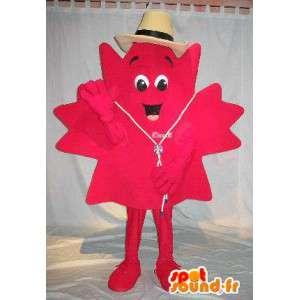 Mascot vertegenwoordigen esdoorn, speciale vermomming Canada