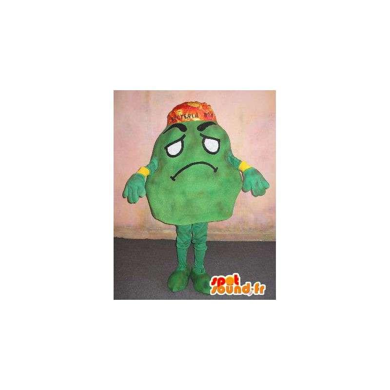 Mascot die een bacterie, medische verhullen - MASFR001672 - Niet-ingedeelde Mascottes