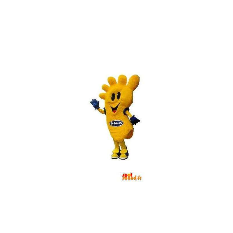 Gele voet mascotte kostuum vormige voet - MASFR001673 - Niet-ingedeelde Mascottes