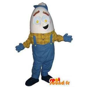 Mascotte de bricoleur à tête d'œuf, déguisement bricolage