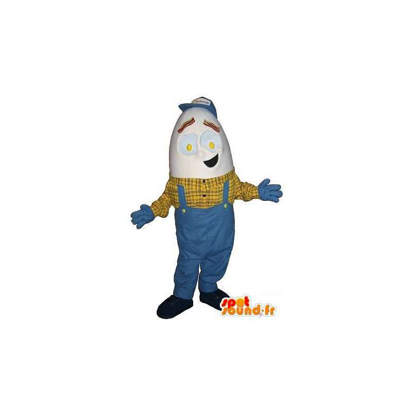 Mascotte de bricoleur à tête d'œuf, déguisement bricolage - MASFR001675 - Mascottes Homme