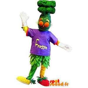 Frutas y ensalada de cóctel traje de la mascota - MASFR001676 - Mascota de la fruta