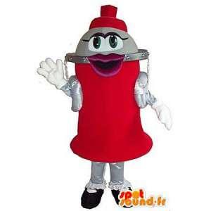 Calabaza con forma de personaje Mascot, botella de vestuario
