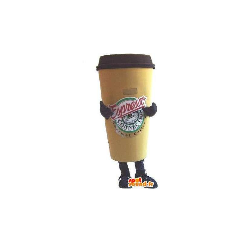 Vormige mascotte kopje koffie, espresso verhullen - MASFR001682 - mascottes Flessen
