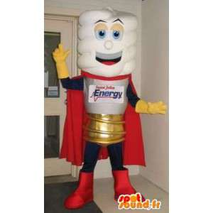 Mascot viser en pære, lys forkledning - MASFR001683 - Maskoter Bulb