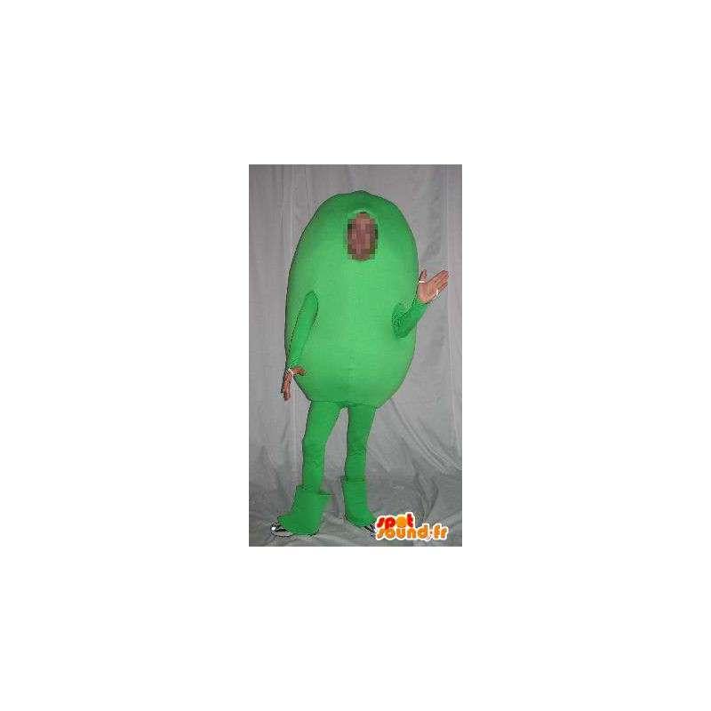 Carácter de la mascota de papa verde, traje vegetal - MASFR001684 - Mascota de verduras