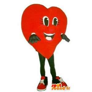 Hjerteformet maskot, forklædning af kærlighed - Spotsound maskot