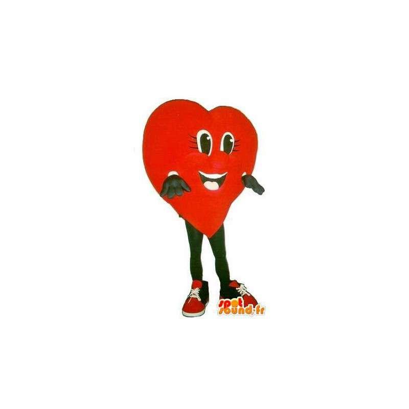 Cuore a forma di mascotte, amore travestimento - MASFR001685 - Mascotte non classificati