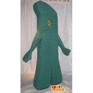 Mascot die einen Baumstamm Wald-Verkleidung