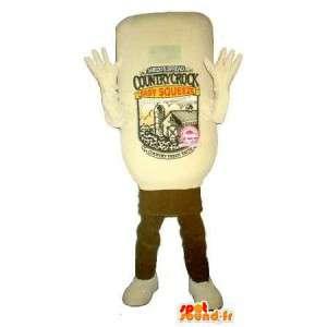 Láhev maskot kečup, potravy převlek