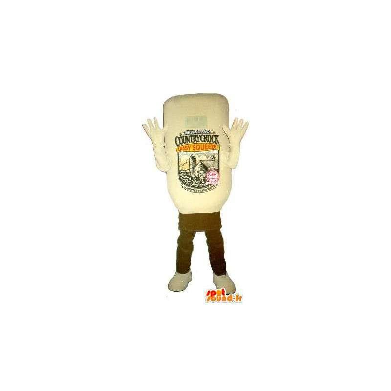 Flaske maskot ketchup, mat forkledning - MASFR001687 - Maskoter Flasker