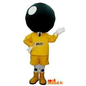 Bowlingbal hoofd mascotte kostuum bowling