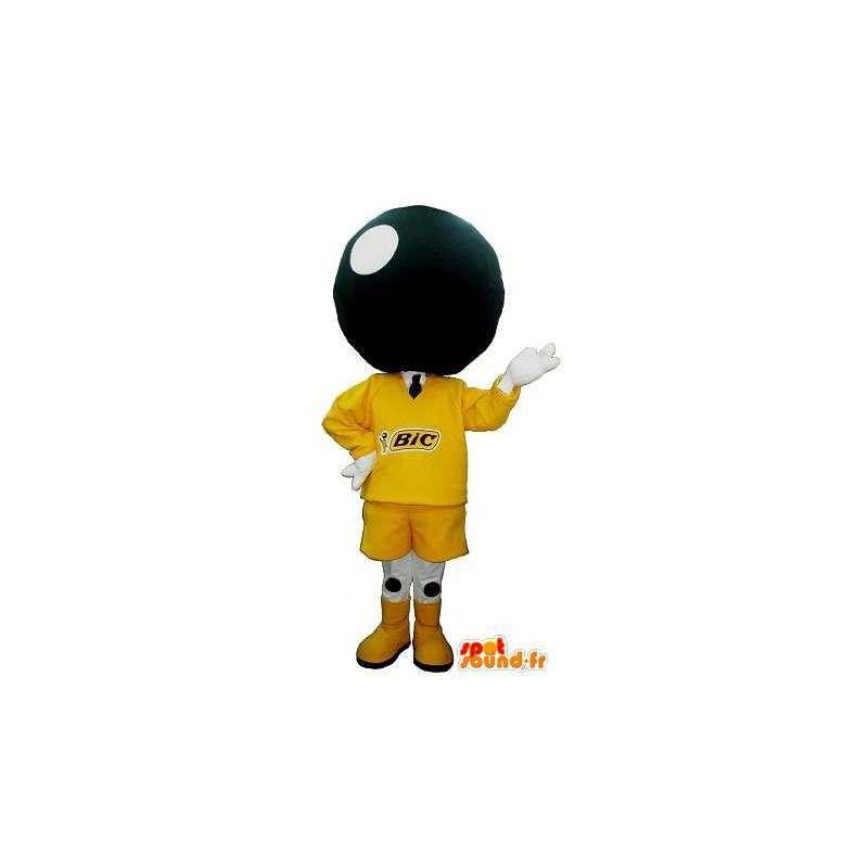Mascotte de tête de boule de bowling , déguisement bowling - MASFR001688 - Mascottes d'objets