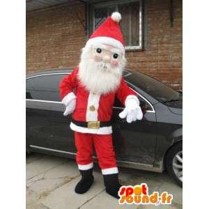 Mascotte de père Noel, déguisement fête de fin d'année