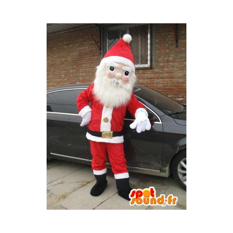 Mascotte de père Noel, déguisement fête de fin d'année - MASFR001690 - Mascottes Noël