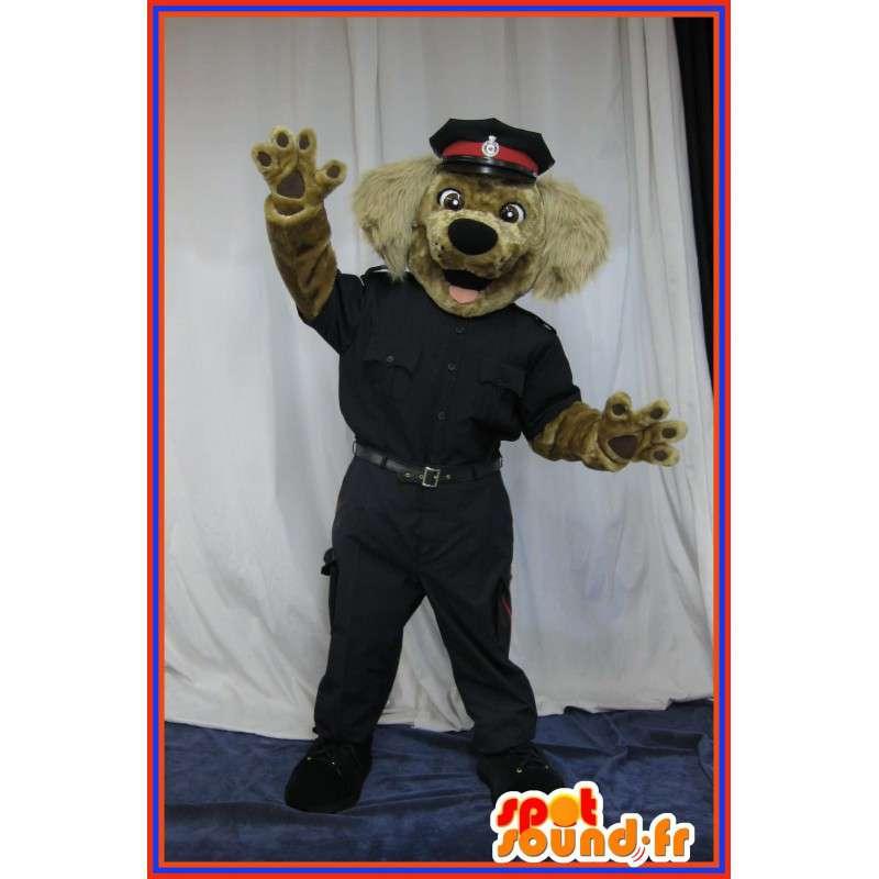 Hund drakt i politiet kostyme, politi maskot - MASFR001697 - Dog Maskoter