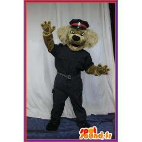 Hund Kostüm als Polizist Polizei-Maskottchen verkleidet - MASFR001697 - Hund-Maskottchen