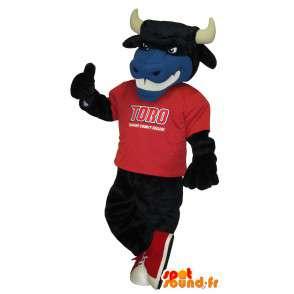 Mascotte de taureau supporter foot US, déguisement de supporter - MASFR001702 - Mascotte de Taureau