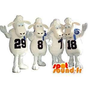 Lot Maskottchen von Schafen bekränzt Trachtengruppe - MASFR001704 - Maskottchen Schafe