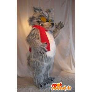 Maskotka wielkiego złego wilka, przerażające przebranie - MASFR001709 - wilk Maskotki