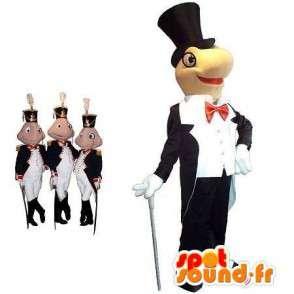 Naamioida Arsène Lupin kilpikonna ja sammakko santarmien - MASFR001713 - sammakko Mascot