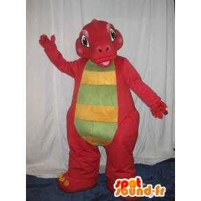 Mascot av en rød drage, fantasi dyr forkledning - MASFR001715 - dragon maskot
