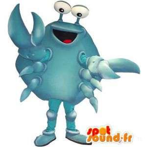 Mascotte de crabe bleu, déguisement de crustacé